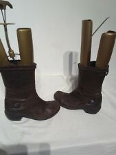 Fly London Brown Ladies Mid Calf Boots Size 4 Ref Ba14 Pls Read Discription
