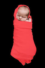 2 x MUSLIN  BABY  WRAPS    Extra Large,  Red , NEW, 1m x 1.4m, Low Postage