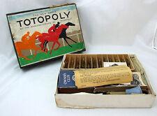 WW2 Issue WAR Edition Boxed Waddington TOTOPOLY  - no BOARD - BUT RARE