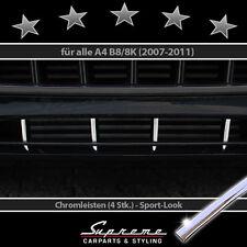 AUDI A4 B8 Typ 8K 07-11 Chrom Zierleisten für Kühlergrill unten Sportlook 3M