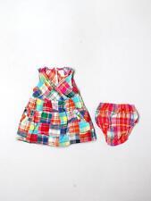 Baby Girl E Land Madras Plaid Spring Summer Dress Size 12 Months