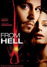 From Hell,  Heather Graham, Johnny Depp, DVD