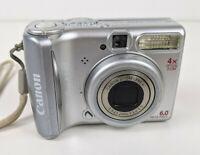 Canon PowerShot A540 4x Optical Zoom 6.0 MP Digital Camera TESTED