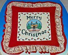 "Cross Stitch & Sew Christmas Pillow 6281-Paragon Christmas Collection-12"" x 12"""