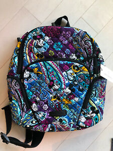 Disney Vera Bradley Mickey's Paisley Celebration Iconic Hadley Backpack New