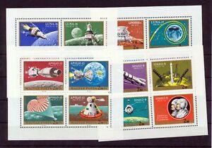 HUNGARY 1970 Space Rocket Sheets MNH x  4(NT 8250s