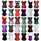 Plus Size S-6XL Sexy Lace up Boned Overbust Corset Bustier Waist Training Top c