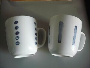 Lot de 2 Mugs Neuf blanc avec fantaisie