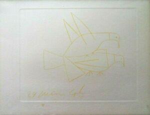 Pablo Picasso (d'après) : Les Colombes - Eau Forte - 1952 #RARE