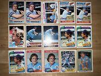(36) Card Lot Kansas City Royals George Brett