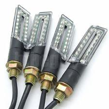 4 x 16 LED 12V Universal  signal indicateur Clignotant Feux Jaune pour Moto noir