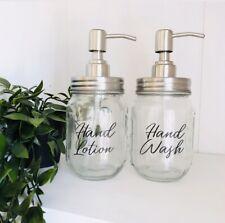 Personalised Glass Pump Mason Jar Soap Dispenser