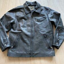Machine clothing faux leather Jacket Mens Size Large