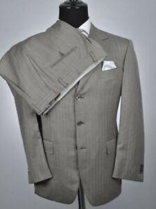 Sartoria Castangia Italian Fully-Canvassed Gray 3Btn Suit 42R 42 R