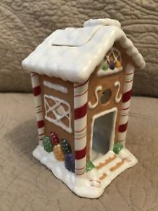 Yankee Candle Porcelain Christmas Gingerbread House • Oil Warmer