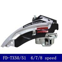 SHIMANO Tourney FD-TX50 Front Derailleur 31.8/34.9mm Mtb Bike Triple Chainrings