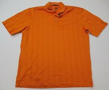 Nike Men's Sports Tiger Woods Collection Golf Short Sleeve Orange Polo Size M