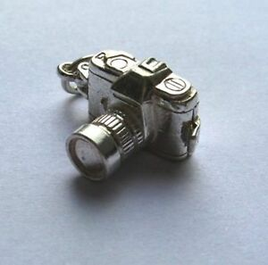 Sterling Silver 925 Opening Camera Charm