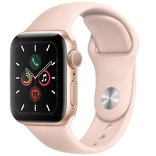 Apple Watch Series 5 40mm Aluminum Gold Case Pink Sand Sport Band - MWV72LL/A
