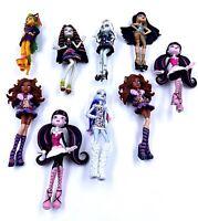 Lot de 9 Figurines / Jouets - Monster High - Environ 12 / 16 cm - Bon état