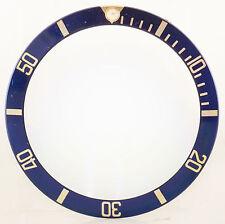 100% Original ROLEX azul y bisel de oro Insertar Para Submariner 16618-Reino Unido Stock