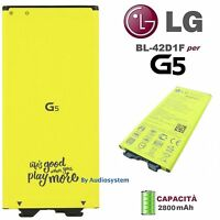 BATTERIA PILA ORIGINALE LG PER G5 H850 G5 SE H840 H830 BL-42D1F 2800MAH NUOVO