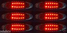 6x 12 ROUGE LED 12V LATÉRAL CHROME côté FEUX DE POSITION VOITURE SUV VAN BUS