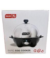 Never Used, Dash Rapid Egg Cooker: 6 Egg Capacity Electric Egg Cooker , Black