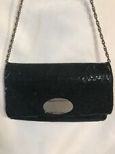 Vintage Hand Bag Purse Black Beaded