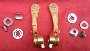 Shifters paire manettes gold SIMPLEX  SLJ   vélo vintage