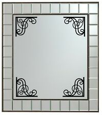 4x corte adhesivo de Vinilo Pegatinas para espejo / MARCO Esquina Decoración