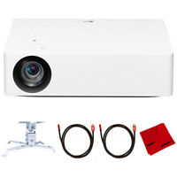 """LG 4K UHD LED Smart Home Theater Projector 140"""" Screen + Ceiling Mount Bundle"""