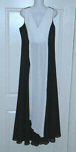 Womens size 44 (AU size 12) black and white evening dress by FORDONNA