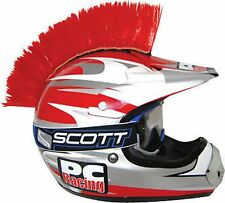Street Dirt ATV Helmet MOHAWK Red Easy Suction Cup Install Looks Kick-A#@ New