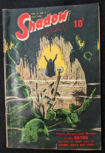 SHADOW COMICS May 1948 V8 #2 Murder in the Bayou. Ungraded, Original