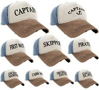 Boating Hat Men Women Baseball Cap Captain,Skipper,Wreck,Pirate,Drunk Sailor LA