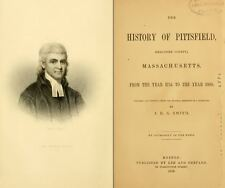 1869 PITTSFIELD, BERKSHIRE County Massachusetts MA, History & Genealogy DVD B06