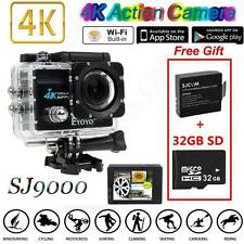 "SJ9000 4K HD WiFi Sports Action Camera 2.0"" LCD 16MP +Extra 2 Batteries+32GB SD"