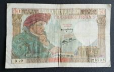 FRANCE - FRANCIA - FRENCH NOTE - BILLET DE 50 FRANCS JACQUES COEUR 23/1/1941.