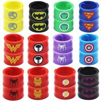Superhero Slap Bracelet Birthday Party Supplies School Classroom Rewards 24pcs