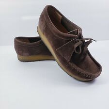 Clarks Originals Wallabees Shoes Suede Tan Ankle Boots Sz 8 M Brown 78984