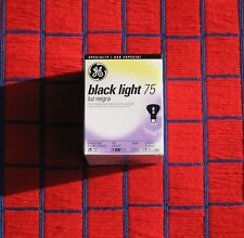 GE BRAND BLACK LIGHT BULB 75 WATT R30 blacklite Blacklight BLUE 75R30/BLB flood