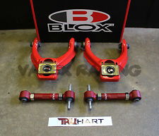 Blox RED Competition Front & TruHart Rear Camber Kit Combo HONDA CIVIC 96-00 EK