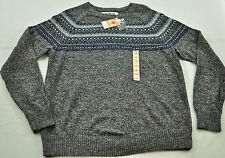 sMen's  URBAN PIPELINE sweater size large MSRP $50 dark gray heather with design