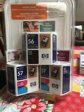 NEW HP 56 57/57 Combo Pack *Black/Tri-Color* Ink Cartridges *EXPIRED!*