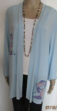 NWT LONG LIGHT BLUE SHIMMER DETAIL JACKET SIZE XL (50/52'' CHEST