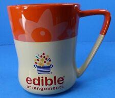 Edible Arrangements Orange & Cream Color Large 16 oz Coffee Mug Cup With Daisies