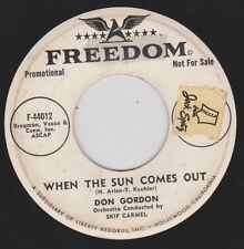 DON GORDON {50s Pop Crooner} WHEN THE SUN COMES OUT /HOW COME YOU DON'T ♫hear VG