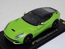 1/18 BBR Ferrari F12 Berlinetta Ithaca Green/Carbon Dach Lim 10 PCs C4F022