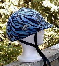 helmet cover -  lt BLUE tiger/leopard - small